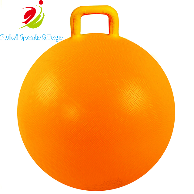 18 22 Inch Inflatable Gym Exercise Jumping Bouncy Ball Space Hopper Ball Hopping Ball With Handle For Kids 3 6 Ages Outdoor Sports Play From China Manufacturer Pulei Sports Goods Co Ltd